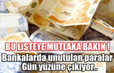 Bankada Unutulan Paralar Sorgulama